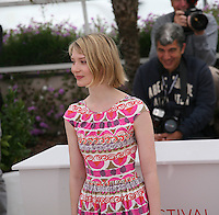 Mia Wasikowska at the Lawless film photocall at the 65th Cannes Film Festival. The screenplay for the film Lawless was written by Nick Cave and Directed by John Hillcoat. Saturday 19th May 2012 in Cannes Film Festival, France.