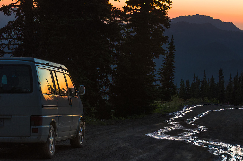 Obstruction Point Road, twilight, August, Olympic National Park, Clallam County, Washington, USA