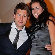 NLD/Volendam/20111117 - Huwelijksfeest nav huwelijk Jan Smit en Liza Plat, Nick Schilder en partner Kirsten Hofstee