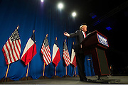 Donald Trump speaks at a campaign rally on February 26, 2016 in Fort Worth, Texas.  (Cooper Neill for The New York Times)