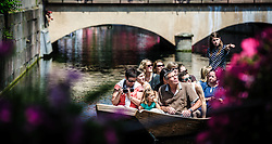 Tourists sightseeing in a punt in the area known as 'Little Venice' in Colmar, Alsace, France<br /> <br /> (c) Andrew Wilson   Edinburgh Elite media