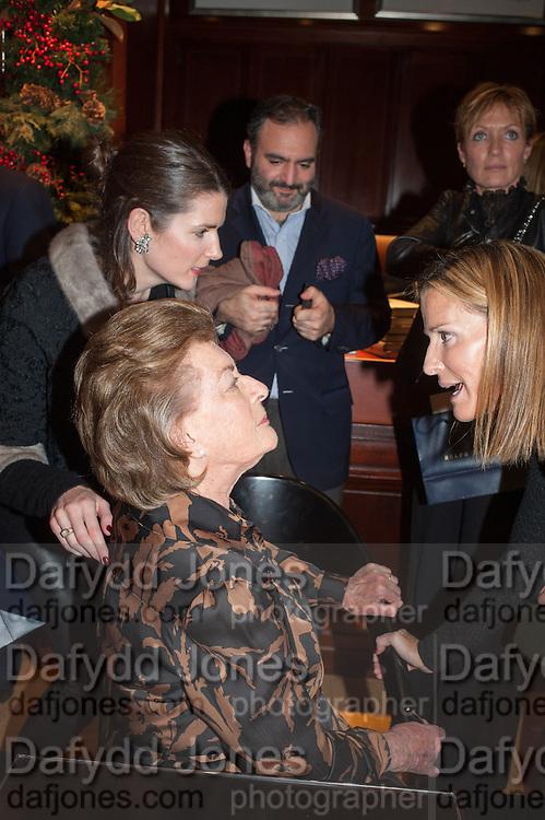 LADY PAMELA HICKS; INDIA HICKS , Book launch for ' Daughter of Empire - Life as a Mountbatten' by Lady Pamela Hicks. Ralph Lauren, 1 New Bond St. London. 12 November 2012.