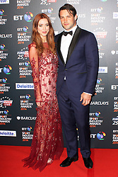 © Licensed to London News Pictures. 08/05/2014, UK. , Una and Ben Foden, BT Sport Industry Awards 2014, BT Sport Industry Awards 2014, Battersea Evolution, London UK, 08 May 2014. Photo credit : Brett D. Cove/Piqtured/LNP