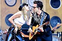 Miley Cyrus at Glastonbury Festival 2019 photo by David Court