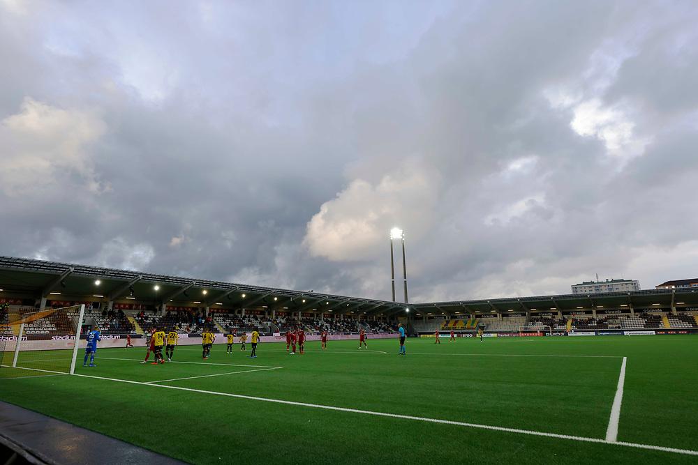 GOTHENBURG, SWEDEN - JULY 29: clouds over Bravida Arena  during the UEFA Europa Conference League Qualifying match 2nd leg between BK Hacken and Aberdeen FC at Bravida Arena on July 29, 2021 in Gothenburg, Sweden.<br /> (Photo by Derek Ironside/Newsline Media)