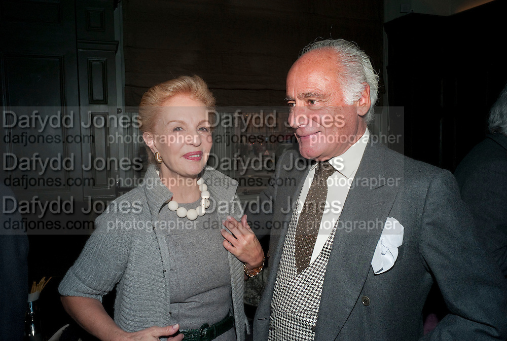 CAROLINA HERRERA; JOHN STEFANIDES, Graydon and Anna Carter host a lunch for Carolina Herrera to celebrate the ipening of her new shop on Mount St. .The Connaught. London. 20 January 2010