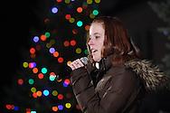 Pine Bush, NY -  Lauren Brunetti sings at The Pine Bush Festival of Lights holiday celebration on the evening of Dec. 1, 2008.