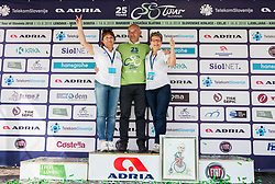 Bogdan Fink, race director with Mojca Novak and Sonja Gole after the 5th Time Trial Stage of 25th Tour de Slovenie 2018 cycling race between Trebnje and Novo mesto (25,5 km), on June 17, 2018 in  Slovenia. Photo by Vid Ponikvar / Sportida
