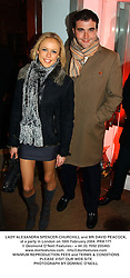 LADY ALEXANDRA SPENCER-CHURCHILL and MR DAVID PEACOCK, at a party in London on 18th February 2004.PRX 171