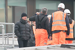 Tom Cruise runs across the glass roof of Blackfriars train station in London filming scenes for the new Mission Impossible movie. The scenes had ben delayed for months after Tom broke his ankle after performing a stunt near the same location. 13 Jan 2018 Pictured: Tom Cruise. Photo credit: MEGA TheMegaAgency.com +1 888 505 6342