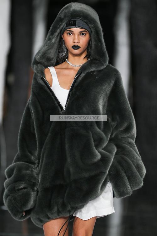 Barbara Valente walks the runway wearing PUMA x FENTY by Rihanna Fall 2016 during New York Fashion Week on February 12, 2016