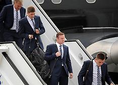 England Euro 2012 team arrive in Poland 6-6-12