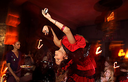 Belly dancers perform for patrons at the restaurant Comptoir Darna in Marrakech, Morocco on May 9, 2009.