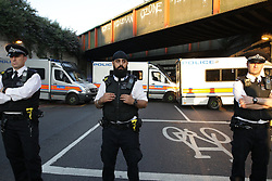 June 19, 2017 - London, London, UK - London, UK. One man is dead and several inured after a car was driven in to people outside a Muslim welfare centre near to Finsbury Park mosque. (Credit Image: © Joel Goodman/London News Pictures via ZUMA Wire)