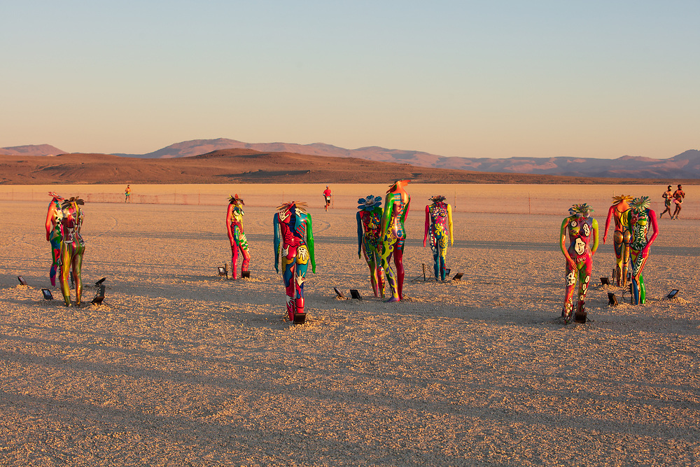 Connections by: Oxana Belka from: Chicago, IL year: 2019<br /> <br /> We will bring ten mannequins. Building on the foundation of the human form, each mannequin will be uniquely painted and designed and will represent the spectrum of human emotions. As a whole, the art piece will represent the human experience. We live in a symbiotic relationship where we influence and affect change in one another. Through creativity, expression, and vulnerability, we are able to transform those around us, and they in turn transform us. At night, the mannequins will also be illuminated. The illumination will breathe life and further animate these forms. To the observer, the mannequins will become representative of not only the burning man experience but also a transformative journey, fueled by our bonds.
