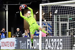 May 15, 2019 - Foxborough, MA, U.S. - FOXBOROUGH, MA - MAY 15: New England Revolution goalkeeper Cody Cropper (1) makes a save during the Final Whistle on Hate match between the New England Revolution and Chelsea Football Club on May 15, 2019, at Gillette Stadium in Foxborough, Massachusetts. (Photo by Fred Kfoury III/Icon Sportswire) (Credit Image: © Fred Kfoury Iii/Icon SMI via ZUMA Press)