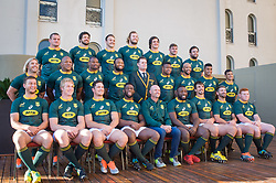 August 24, 2018. Malvinas Argentinas Stadium, Mendoza, Argentina.<br /> South Africa SPRINGBOKS smiling during a photography session at Sheraton Hotel.