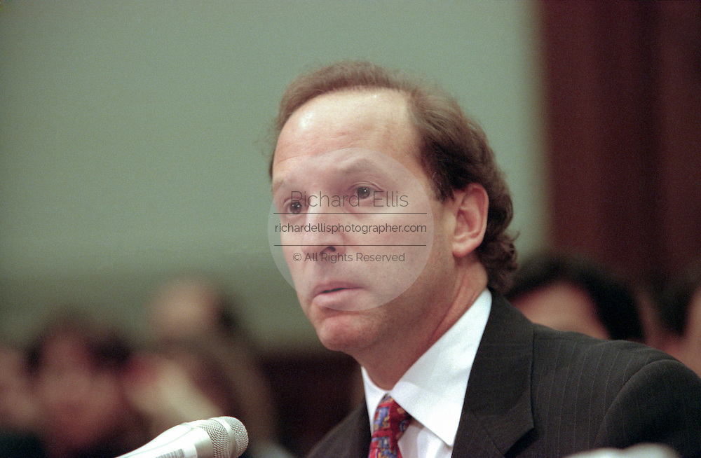 Democratic counsel Abbe Lowell during House Judiciary Committee hearings on whether impeachment proceedings should begin against President Bill Clinton October 5, 1998 in Washington, DC. This is only the third time in US history that impeachment proceedings against a President have been brought to the House committee.