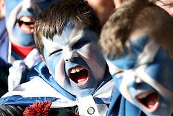 Young Scotland fans wear facepaint before the NatWest 6 Nations match at BT Murrayfield, Edinburgh.