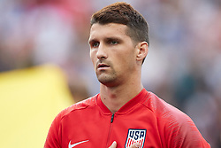 May 28, 2018 - Chester, PA, U.S. - CHESTER, PA - MAY 28: United States defender Eric Lichaj (15) looks on during the national anthem prior to the start of the international friendly match between the United States and Bolivia at the Talen Energy Stadium on May 28, 2018 in Chester, Pennsylvania. (Photo by Robin Alam/Icon Sportswire) (Credit Image: © Robin Alam/Icon SMI via ZUMA Press)