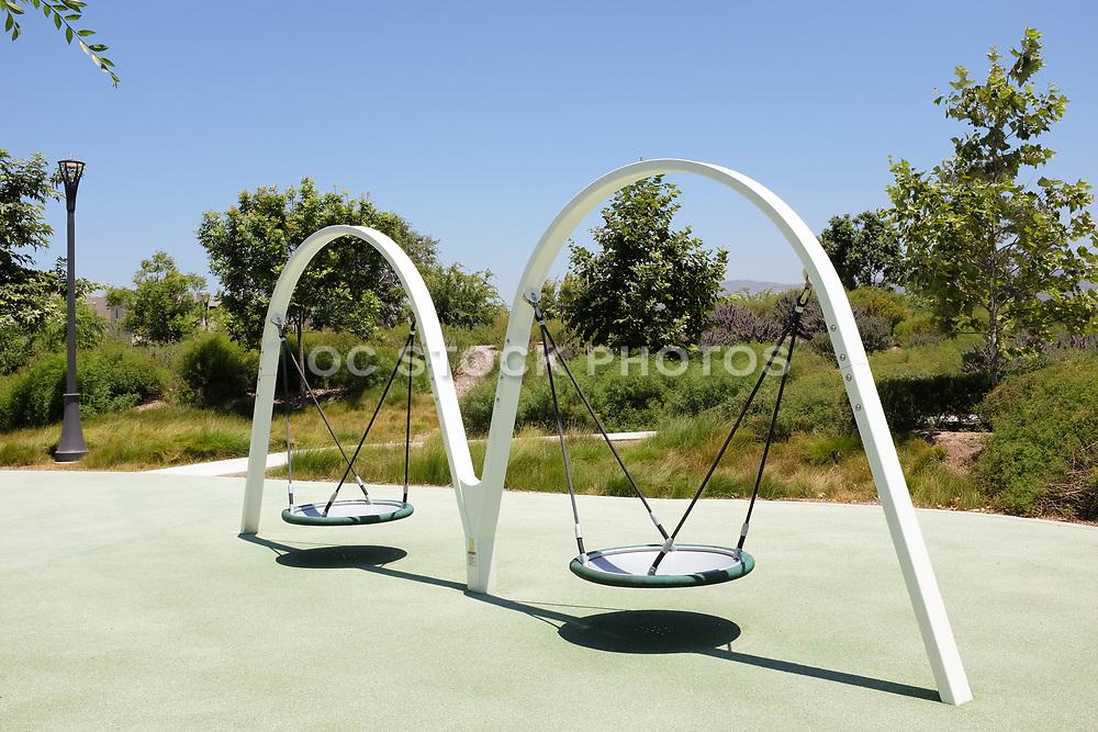 Children's Playground Equipment Along Great Park Trails