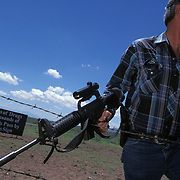Roger Barnett regularly patrolled his property along the US/Mexico border while carrying an assault rifle and pistol. Roger would track suspected undocumented immigrants crossing his property into America. Please contact Todd Bigelow directly with your licensing requests. PLEASE CONTACT TODD BIGELOW DIRECTLY WITH YOUR LICENSING REQUEST. THANK YOU!