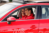 Cristiano Ronaldo participates and receives new Audi during the presentation of Real Madrid's new cars made by Audi in Madrid. December 01, 2014. (ALTERPHOTOS/Caro Marin)