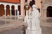 Israel, Caesarea, Ralli Museum of modern art Statue of the Rambam (Maimonides)