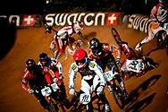 Riders crash in the Semi Finals at the UCI BMX Supercross World Cup, Pietermaritzburg, 2011