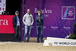 Gal Edward, NED, Glock's Voice, Minderhoud Hans Peter, Waegemakers Ad, Werner Nicole<br /> Training session<br /> Longines FEI World Cup Jumping Final, Omaha 2017 <br /> © Hippo Foto - Jon Stroud<br /> 29/03/2017