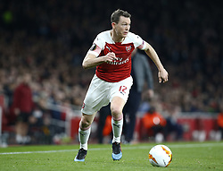 February 21, 2019 - London, Greater London, United Kingdom - Stephan Lichtsteiner of Arsenal..during UEFA Europa League Round of 32 2nd Leg between Arsenal and of Bate Borisov at Emirates stadium , London, England on 20 Feb 2019. (Credit Image: © Action Foto Sport/NurPhoto via ZUMA Press)