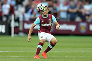 Mark Noble, West Ham United captain in action. Premier league match, West Ham Utd v AFC Bournemouth at the London Stadium, Queen Elizabeth Olympic Park in London on Sunday 21st August 2016.<br /> pic by John Patrick Fletcher, Andrew Orchard sports photography.