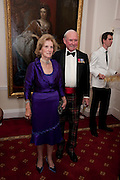 MARY RAMSAY; CHARLES RAMSAY, Charity Dinner in aid of Caring for Courage The Royal Scots Dragoon Guards Afganistan Welfare Appeal. In the presence of the Duke of Kent. The Royal Hospital, Chaelsea. London. 20 October 2011. <br /> <br />  , -DO NOT ARCHIVE-© Copyright Photograph by Dafydd Jones. 248 Clapham Rd. London SW9 0PZ. Tel 0207 820 0771. www.dafjones.com.