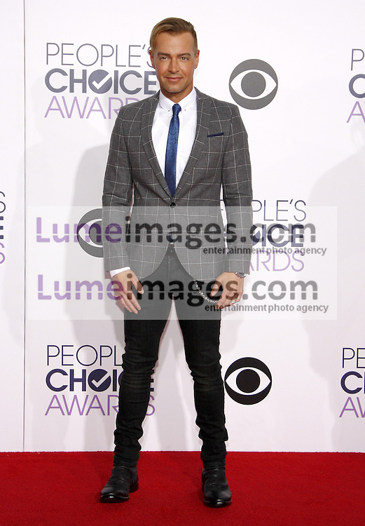 Joey Lawrence at the 41st Annual People's Choice Awards held at the Nokia L.A. Live Theatre in Los Angeles on January 7, 2015. Credit: Lumeimages.com