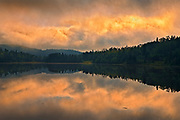 Morning storm light on northern lake<br />Terrace Bay<br />Ontario<br />Canada