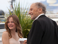Fantine Harduin and Jean-Louis Trintignant at the Happy End film photo call at the 70th Cannes Film Festival Monday 22nd May 2017, Cannes, France. Photo credit: Doreen Kennedy