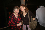 Trish Beswick and Joanna Briscoe, Dinner at L'Archipel Restaurant hosted by Patrice Binet-Descamps. Prince Maurice. Mauritius. 25 May 2006. ONE TIME USE ONLY - DO NOT ARCHIVE  © Copyright Photograph by Dafydd Jones 66 Stockwell Park Rd. London SW9 0DA Tel 020 7733 0108 www.dafjones.com