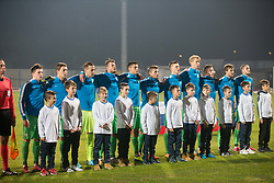 Players of Slovenia during football match between National teams of Slovenia and France in UEFA European Under-21 Championship Qualification, on November 13, 2017 in Domzale, Slovenia. Photo by Vid Ponikvar / Sportida