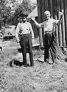 William MacQuarrie (Gordon's father) with Al Peck(right) at the MacQuarrie cabin, ca. 1939.