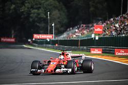 August 25, 2017 - Spa Francorchamps, Vlaanderen, belgique - Spa 25/08/2017 Formule 1 /GP F1 Belgique /Vendredi/Essais 1/.Vettel N∞5 Ferrari (Credit Image: © Panoramic via ZUMA Press)