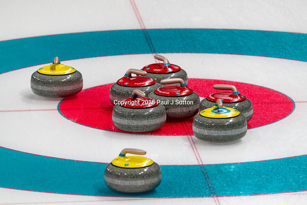 Curling stones at the Olympic Winter Games PyeongChang 2018