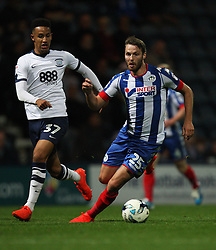 Nick Powell of Wigan Athletic (R) in action - Mandatory by-line: Jack Phillips/JMP - 23/09/2016 - FOOTBALL - Deepdale - Preston, England - Preston North End v Wigan Athletic -  EFL Sky Bet Championship