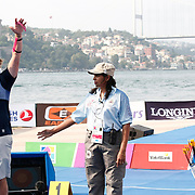Brady ELLISON (USA) (L) and DAI Xiaoxiang (CHN) (R) competes in Archery World Cup Final in Istanbul, Turkey, Sunday, September 25, 2011. Photo by TURKPIX