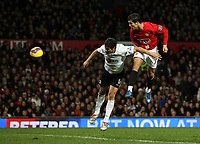 Photo: Paul Thomas/Sportsbeat Images.<br /> Manchester United v Fulham. The FA Barclays Premiership. 03/12/2007.<br /> <br /> Cristiano Ronaldo (R) of Man Utd scores.