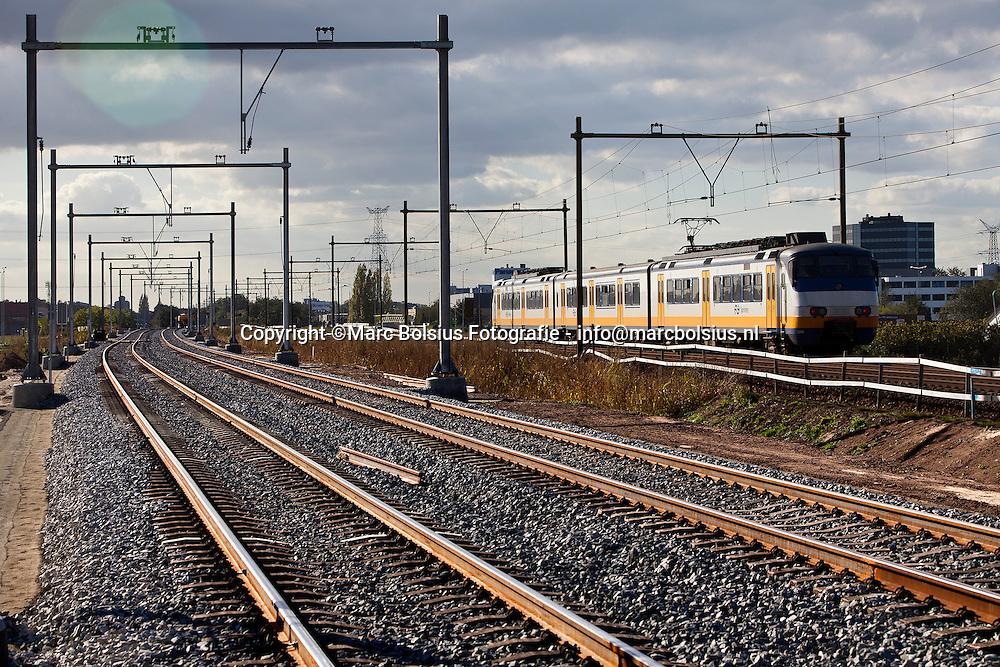 rosmalen,het tijdige spoor is bijna klaar op de empelseweg en burgemeester maizaraclaan