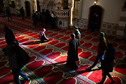 Muslim prayers gather after Friday Jummah prayer meeting at Al Abrar Mosque which is the place that Syrian refugees go every week. On December 21st, 2018 in Tripoli, Lebanon.