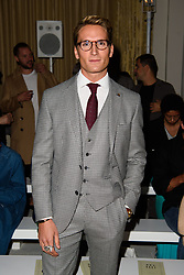 Oliver Proudlock on the front row during the Daks London Fashion Week SS18 show held at the Langham Hotel, London. Picture date: Friday September 16th, 2017. Photo credit should read: Matt Crossick/ EMPICS Entertainment.