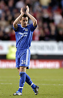 Photo: Olly Greenwood.<br />Charlton v Chelsea. The Barclays Premiership. 03/02/2007. Chelsea's John Terry celebrates at the end of the game after coming as a substitute for his 1st game back after injury