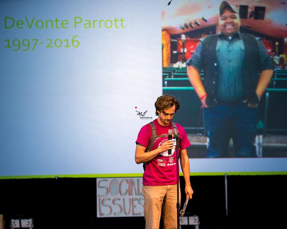 Devonte Parrott, 1997, 2016, global youth service day