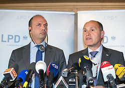 13.05.2016, Gries am Brenner, AUT, Grenzmanagment am Brenner, PK Sobotka und Alfano, im Bild v.l. Italiens Innenminister Angelino Alfano, Österreichs Innenminister Wolfgang Sobotka // f.l.: Italian Interior Minister Angelino Alfano, Austrian Interior Minister Wolfgang Sobotka during a Meeting of Austrians Interior Minister Sobotka with Italian counterpart Alfano at Gries am Brenner, Austria on 2016/05/13. EXPA Pictures © 2016, PhotoCredit: EXPA/ Johann Groder